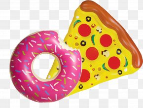 Pool Floats - Pizza Donuts Inflatable Swim Ring Swimming Pool PNG