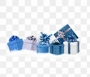 Blue Christmas Gift - Christmas Gift Blue Stock Photography PNG