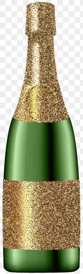 Glitter Champagne Bottle Clip Art Image - Red Wine Champagne Bottle Clip Art PNG