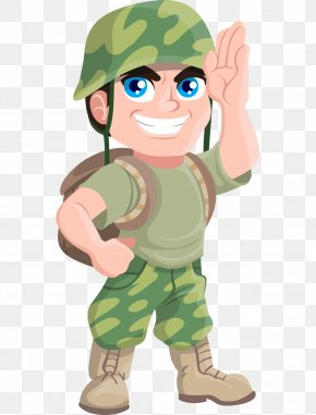 Hand-painted Cartoon Salute Soldiers Abroad - Soldier Free Content Military Clip Art PNG