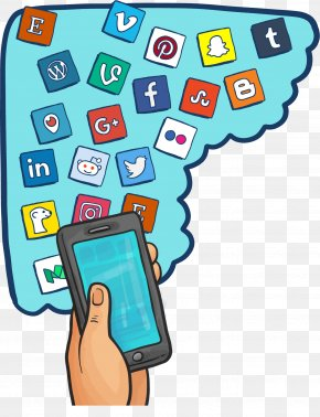 The Hands Of The Smartphone - Social Media Social Network Icon PNG