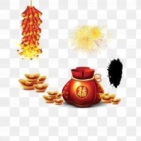 Chinese New Year Festive Material - Gold Download Chinese New Year Clip Art PNG