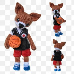 Creative Knitting Basketball Puppy - Dog Basketball Player Knitting PNG