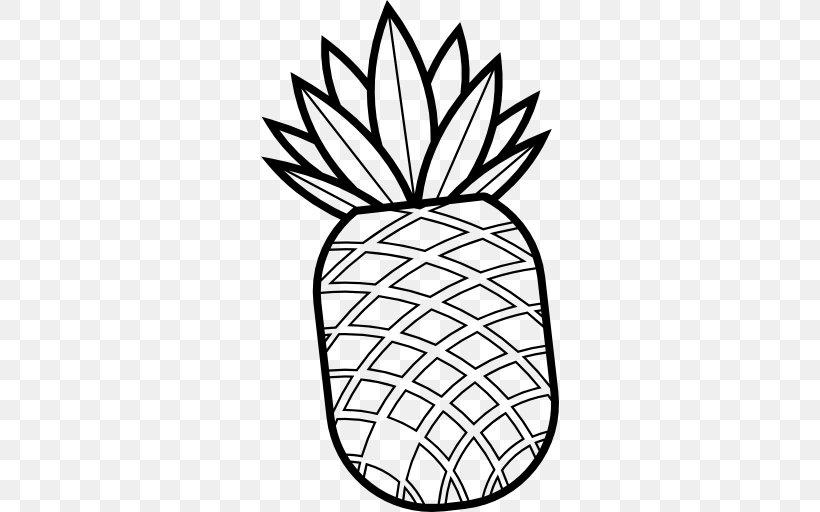 Black And White Flower clipart - Pineapple, Fruit, Flower, transparent clip  art