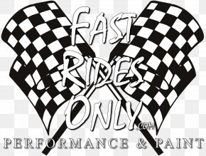 Checkered Flag Font - Kart Racing Go-kart Party Auto Racing Birthday PNG