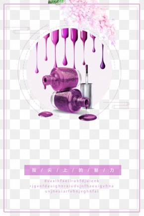 Creative Nail Polish Poster Background - Poster Nail Polish Artificial Nails PNG