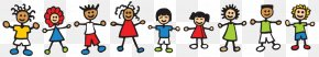 Outlier Cliparts - Child Holding Hands Cartoon Clip Art PNG