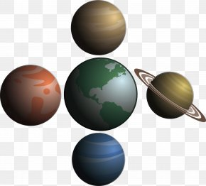 Planet Realistic Vector Material - Euclidean Vector PNG