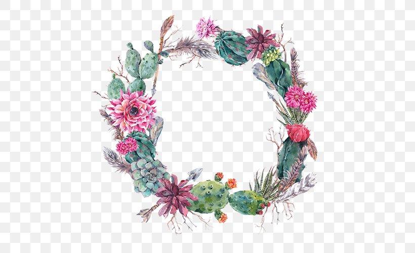 Wedding Invitation Cactaceae Flower Succulent Plant Wreath, PNG, 500x500px, Wedding Invitation, Cactaceae, Color, Decor, Etsy Download Free