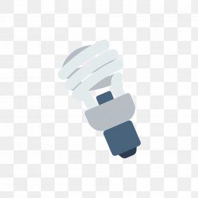 Gray Energy Saving Lamp Bulb - Incandescent Light Bulb Compact Fluorescent Lamp PNG
