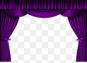 Purple Curtain Clipart Image - Theater Drapes And Stage Curtains Theatre Purple PNG