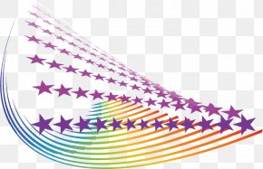 Colorful Technology Background - Computer Graphics Star PNG