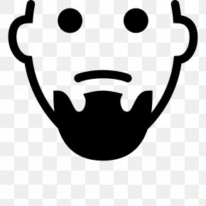 Beard And Moustache - Smiley Avatar Icon Design PNG
