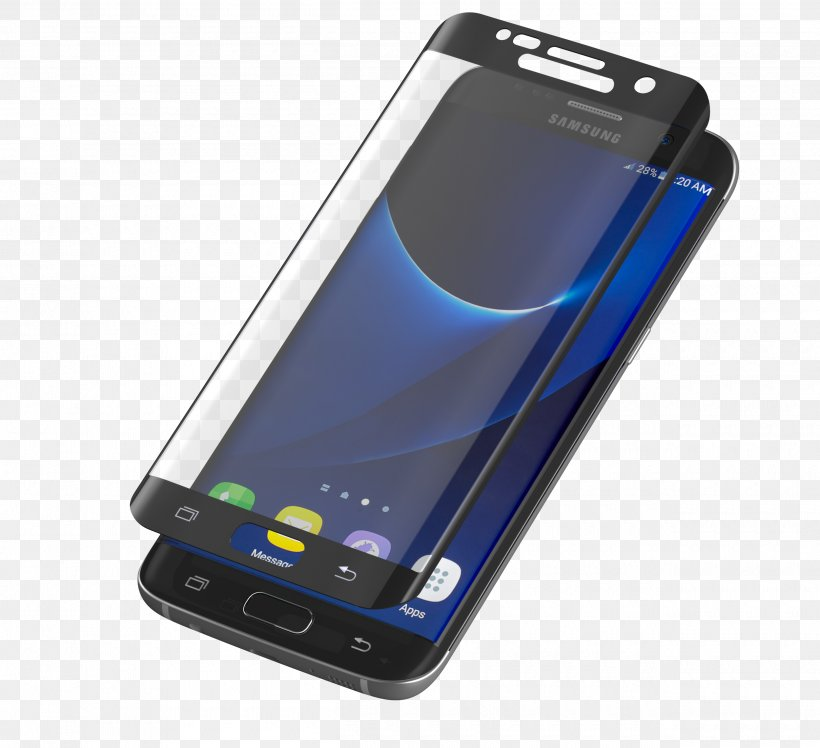 Smartphone Samsung GALAXY S7 Edge Feature Phone Screen Protectors Telephone, PNG, 2500x2282px, Smartphone, Cellular Network, Communication Device, Electronic Device, Electronics Accessory Download Free