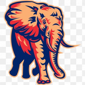 Elephants - African Elephant Indian Elephant Clip Art Vector Graphics Illustration PNG