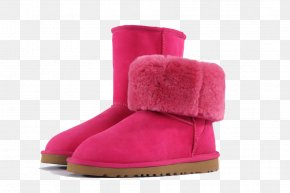 Simple Red Rose Snow Boots - Snow Boot Red PNG