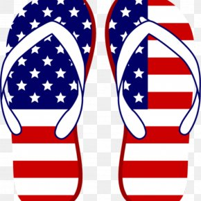 T-shirt - Clip Art Flip-flops Flag Of The United States Vector Graphics T-shirt PNG