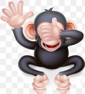Funny Monkey - Three Wise Monkeys Stock Photography Illustration PNG