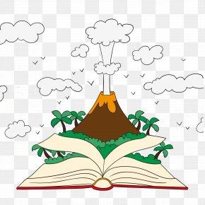 Vector Book Volcano Eruption - Volcxe1n De Fuego Bxe1rxf0arbunga 2010 Eruptions Of Eyjafjallajxf6kull Volcano Euclidean Vector PNG