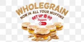 Breakfast - Breakfast Sandwich Muffin Cheeseburger Fast Food PNG
