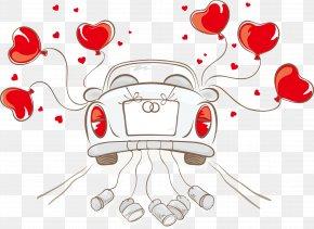 Wedding Car - Wedding Invitation Car Illustration PNG
