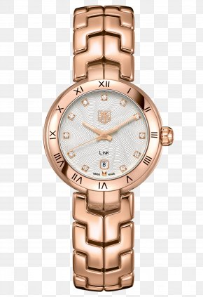 Tag Heuer Watch Rose Gold Watch Female Table - Watch TAG Heuer Swiss Made Quartz Clock Chronograph PNG
