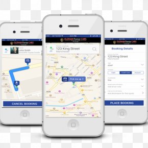 Taxi App - Smartphone Mobile Phones Handheld Devices Android PNG