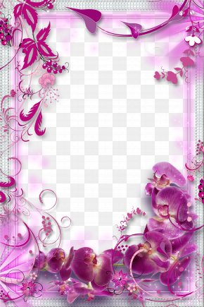 Purple Flowers Border Background - Flower Purple PNG