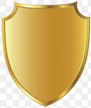 Golden Badge Template Clipart Image - Gold Vignette Clip Art PNG