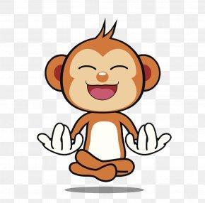 Monkey Pattern - Ape Primate Monkey Cartoon Clip Art PNG