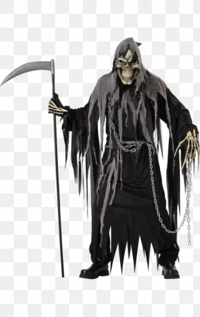 Grim Reaper - Robe Death Halloween Costume Costume Party PNG