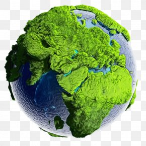 Planet Plant - Earth World Leaf Vegetable Broccoli Grass PNG