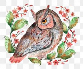 Owl - Barn Owl Calendar December Illustration PNG
