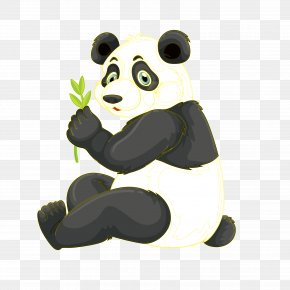 National Treasure Giant Panda - Giant Panda Red Panda Bamboo Illustration PNG