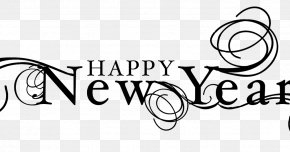 Happy New Year Wordart - New Year's Day Wish New Year's Eve Christmas PNG