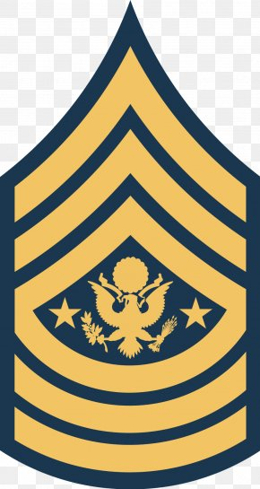 Military - Sergeant Major Of The Army United States Army Enlisted Rank Insignia PNG