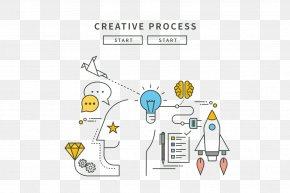 Stylish Minimalist Design Icon - Creativity Flat Design Line Illustration PNG