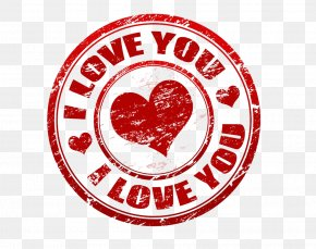Red Heart-shaped I Love You To Seal - Love Heart Illustration PNG