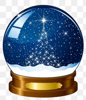 Free Blue Crystal Ball To Pull The Material - Snow Globe Stock Photography Christmas PNG