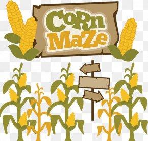 Fall Corn Cliparts - Corn Maze Pumpkin Clip Art PNG