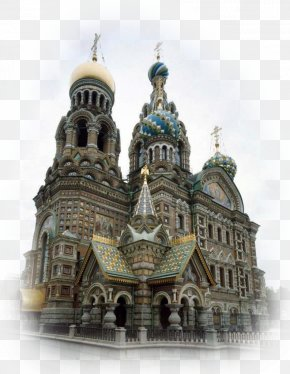 Cathedral - Church Of The Savior On Blood Saint Basil's Cathedral Temple PNG