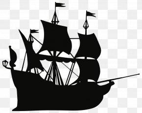 Ship - Peeter Paan Ship Piracy Silhouette Clip Art PNG