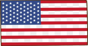 Cartoon American Flag - United Kingdom United States Canada Flag Anglosphere PNG