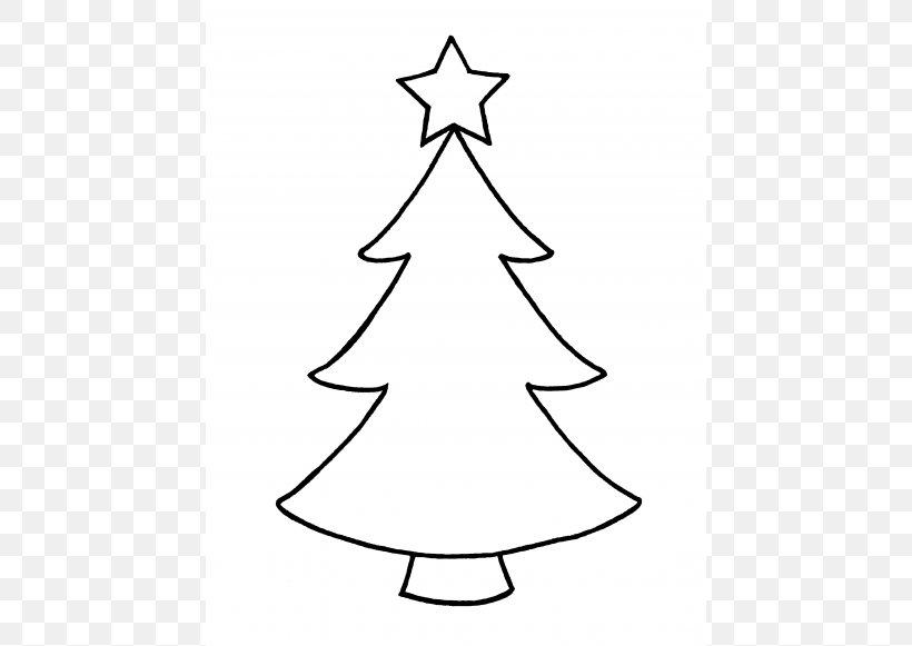 Christmas Tree Outline Clip Art, PNG, 450x581px, Christmas ...