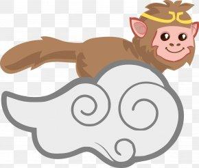 Vector Monkey Border - Sun Wukong The Monkey King Clip Art PNG