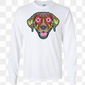 T-shirt - Long-sleeved T-shirt Labrador Retriever Hoodie Calavera PNG