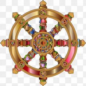 Hinduism - Ship's Wheel Rudder Clip Art PNG