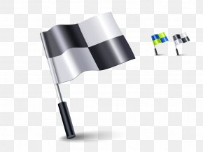 Black And White Checkered Flag - Flag Of The United States Icon PNG