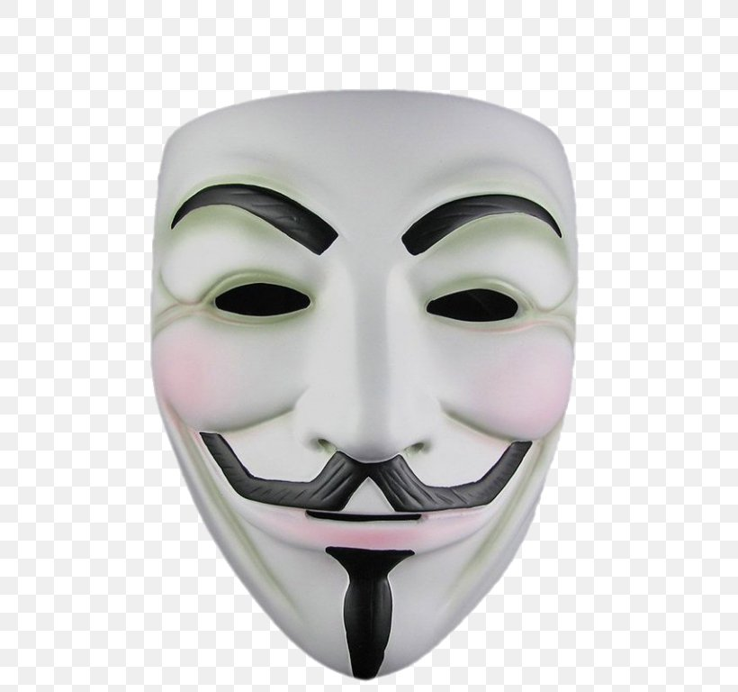 Guy Fawkes Mask Anonymous, PNG, 768x768px, Guy Fawkes Mask, Anonymous, Face, Guy Fawkes, Headgear Download Free