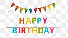 Happy Birthday With Streamer Clip Art Image - Party Birthday Serpentine Streamer Clip Art PNG
